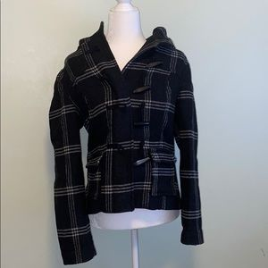 Old Navy Plaid Wool-like Coat